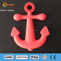 Flospoint Factory Bulk Anchor Silicone Teething Pendant, Baby Anchor Chewable Pendant, Safe Anchor Teething Pendant