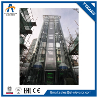 glass outdoor wheelchair lift elevators with 1.0m/s and 400kg