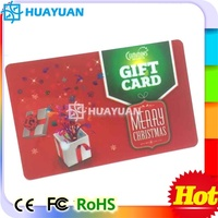 Promotion retailer system CMYK printing PVC Voucher discount gift card