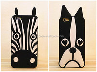 Vogue western style Zebra and Dog design 3d silicone phone case impact-resistant custom silicone phone case for iphone series