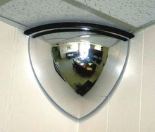 "18"" acrylic quarter dome acrylic safety convex mirror for eliminating blind spots"