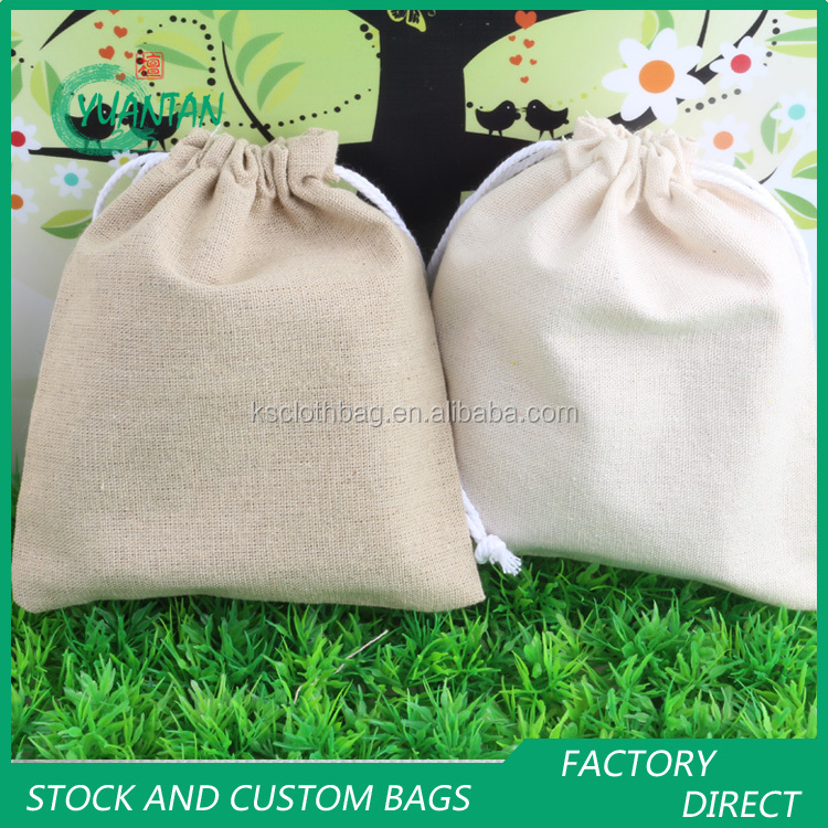 Professional factory wholesale drawstring linen bag