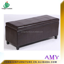 High Quality Long wooden PU/leather Ottoman Bench