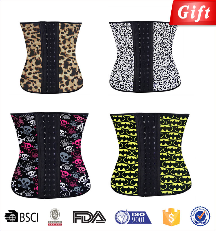 Weight loss slimming latex waist trainer body slim shaper xxxxl shapewear shorts mature sexy fat women burning belts wholesale