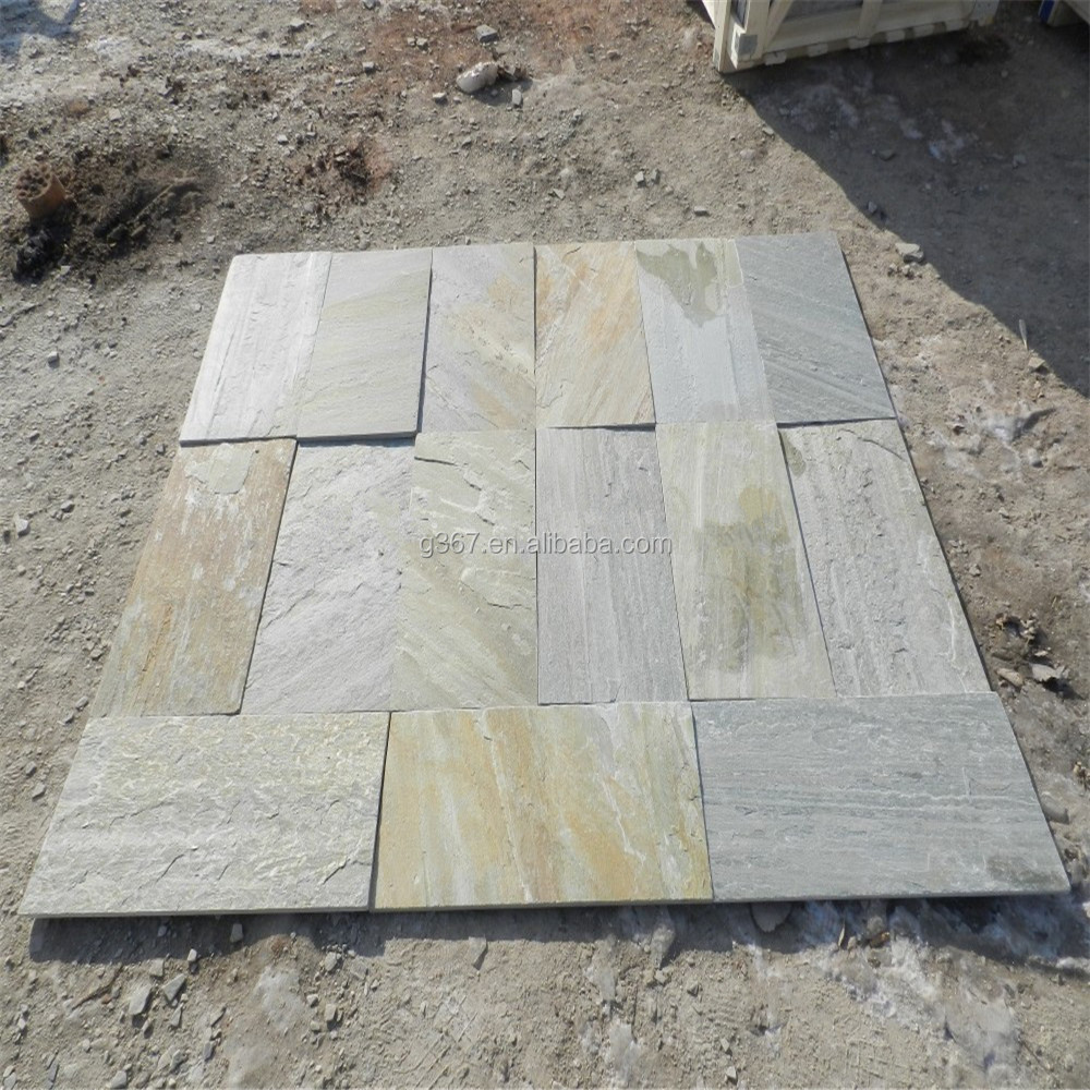 24x24 cut to size natural black slate floor paver