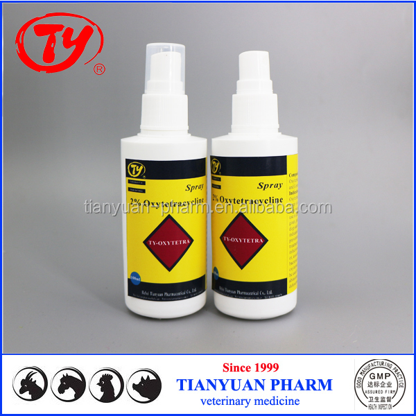 horse and goat use aerosol 2% Oxytetracycline spray for wound dehiscence