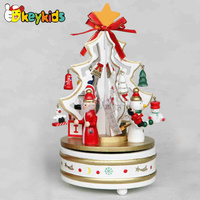 2016 wholesale baby wooden music box gift, christmas fashion kids wooden music box gift, wooden music box gift W07B008C