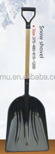 ABS plastic snow shovel with wood handle
