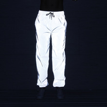 Wholesale custom hip hop 3 m reflective <strong>safety</strong> pants