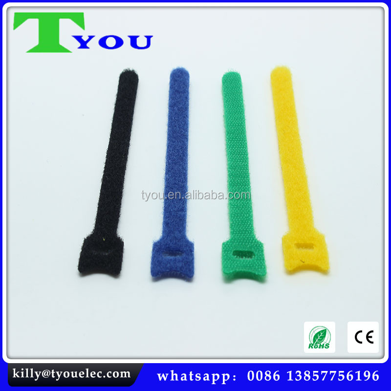 Nylon Magic Back to Back Cable Ties, Wire Strap, colorful magic nylon soft cable strap rubber twist tie