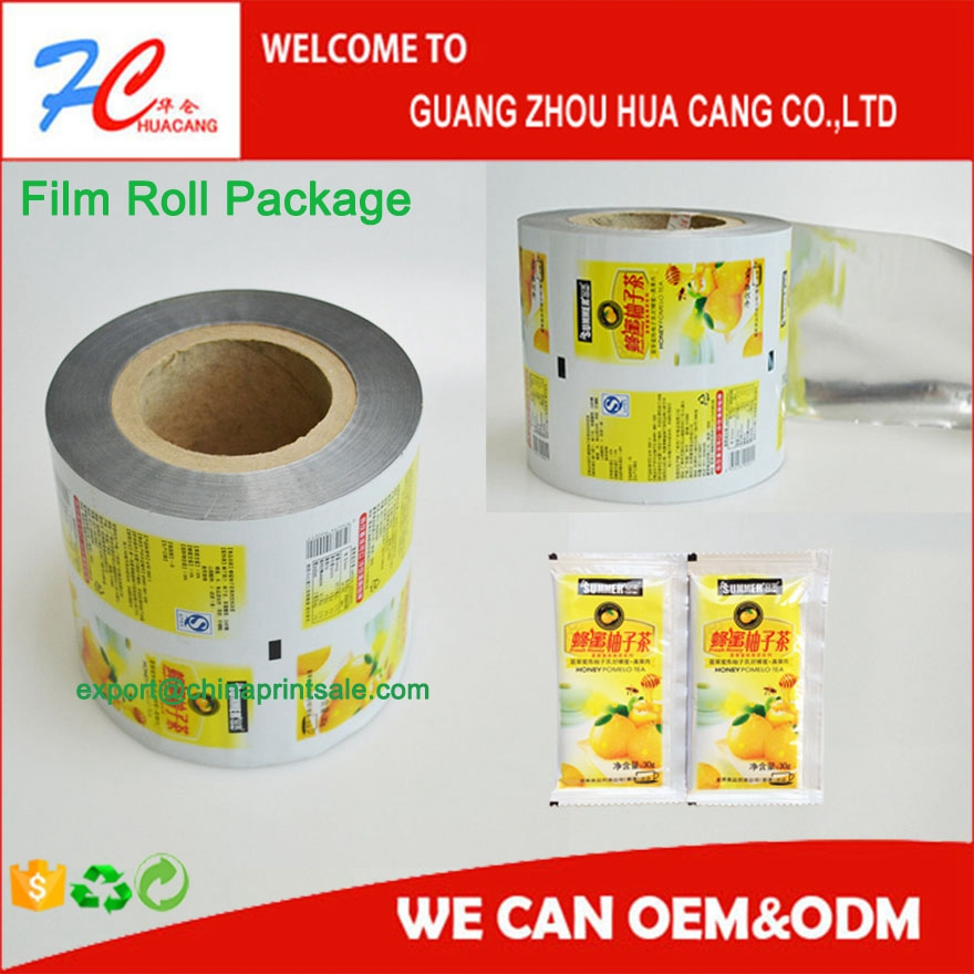 PET/ AL/PE food grade laminating plastic packing film roll,customized package