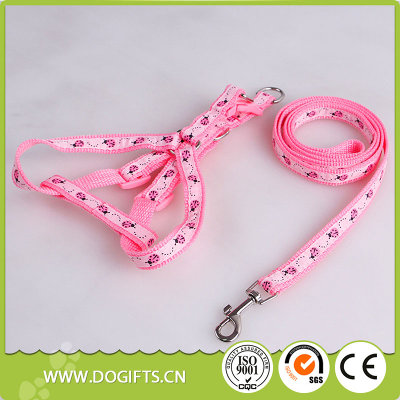 Wholesale High Quality Printed Dog Leash and Harness Set Dogift006702