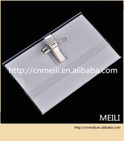 name badge waterproof soft plastic id card holder