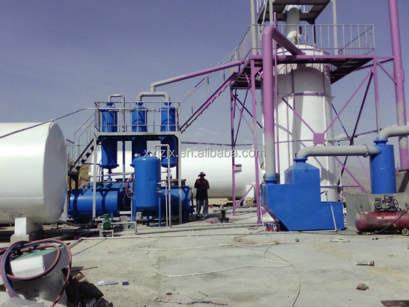 Protitable continuous crude oil refinery equipment