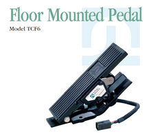 Throttle pedal for heavy duty vehicles