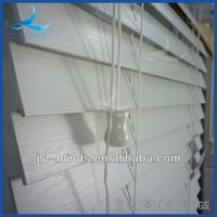 Cheap price white outdoor wooden blinds
