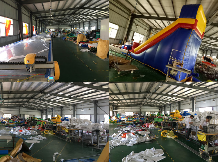 PVC 1000D PVC / 18OZ PVC Material and Slide Type inflatable water slides china