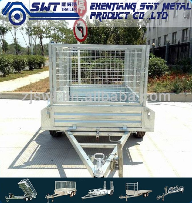Galvanised 8x5 Car Tandem Box Trailer with Cage