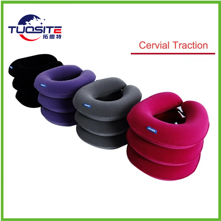 three layers single tube air neck support inflatable neck cervical air traction with pump