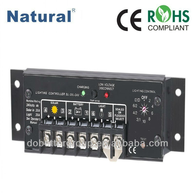6A 10A 20A SunLight automatic street light charge controller with CE