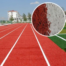 Cheap price 10mm red artificial grass for running track