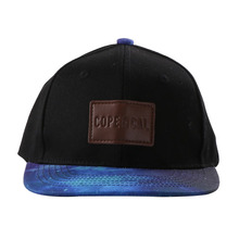 Fashion <strong>flat</strong> brim cap hat applique 6 panel hip hop snapback cap
