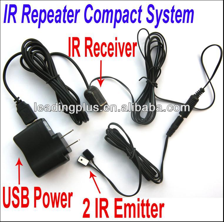 Compact IR repeater system for frequency 38kHz and 56kHz