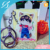 2017 Yiwu Vograce OEM custom acrylic keychain with logo cheap metal plastic keychains cartoon anime printing charms for girls