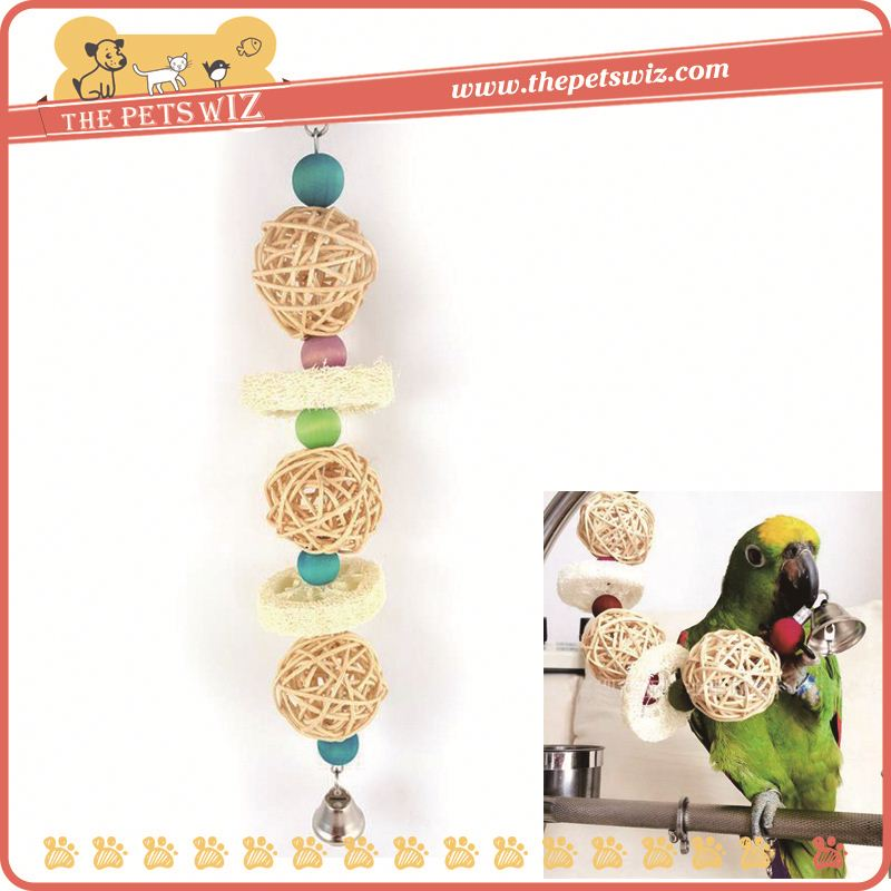 Colorful vine ball toys for birds&parrots , p0wkR small loofah parrot chew toys for sale
