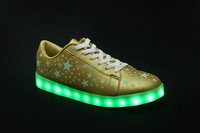2016 Unisex Flat Sports Luminous Dancing Night Running Couple Sneakers LED light shoes