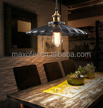 Metal Black Bronze Loft Bar Ceiling Light Shade Retro Pendant Light