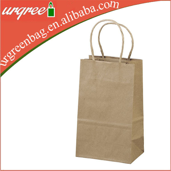 Large Blank Shopping Paper Bag With Cotton Handle