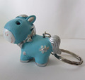 Polyresin horse figurine fancy key rings for bikes