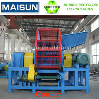 whole tire/tyre shredder for sale-waste tire recycling plant