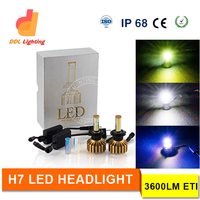 Christmas Promotion best price yellow white blue colors optional H7 led headlamp ce rohs emark certification