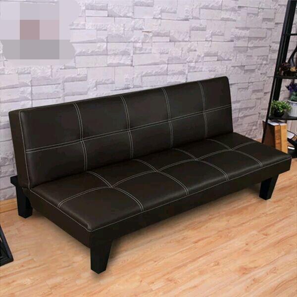 Imitaci n de cuero sof cama solo asiento sof cama for Sofa cama plegable
