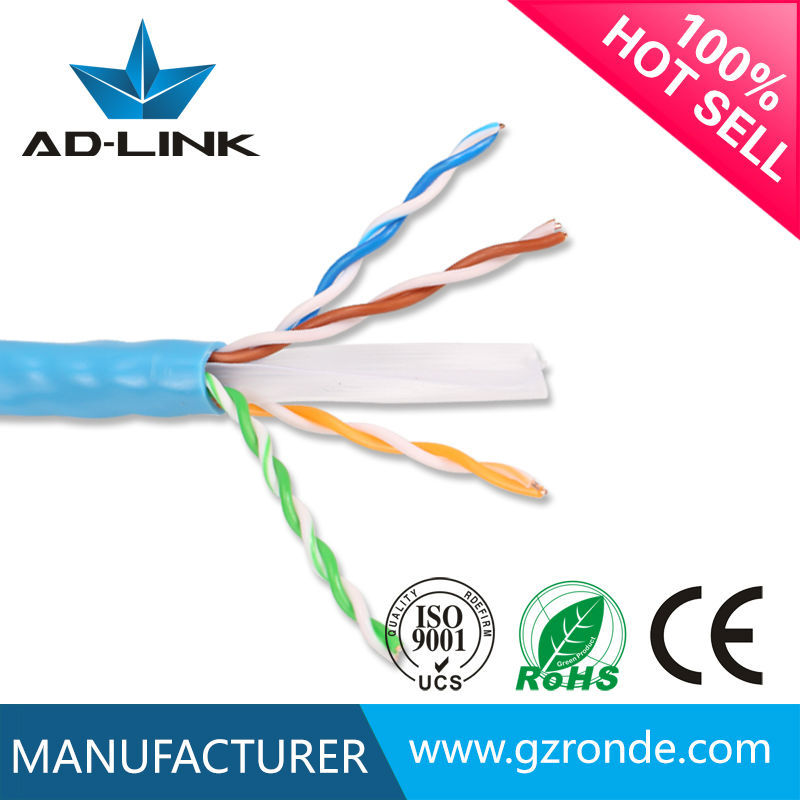 <strong>u</strong>/cat 6 utp cable 0.5mm copper conductor blue PVC jacket