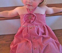 children girls dresses red plaid cotton children wears baby girls garment