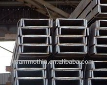 hot rolled c channel steel sizes