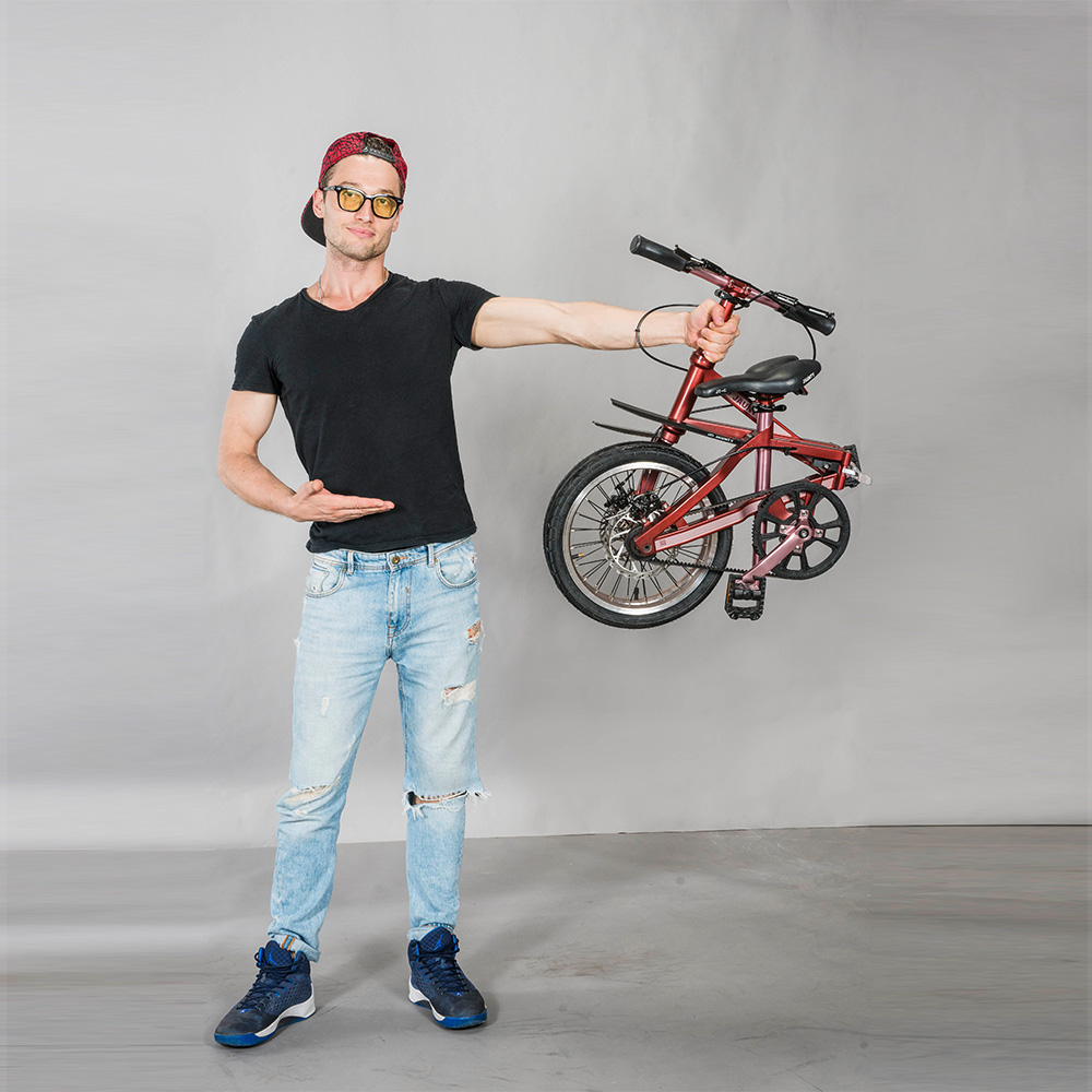 easy carry high quality 16 inch folding bike