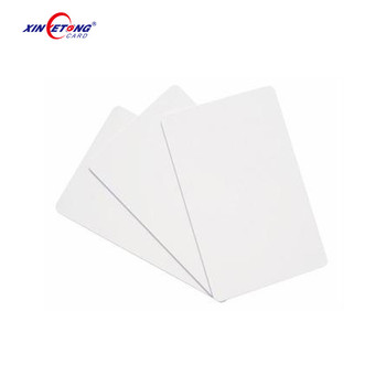 High Quality White Plastic PVC Printable Inkjet Blank Card for Printers