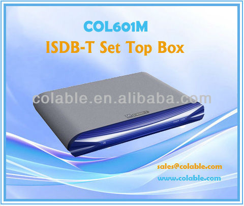 STB, tv box,ISDB-T Set Top Box,MPEG-2/MPEG-4 AVC/H.264 HD/SD Video tv decoder COL601M