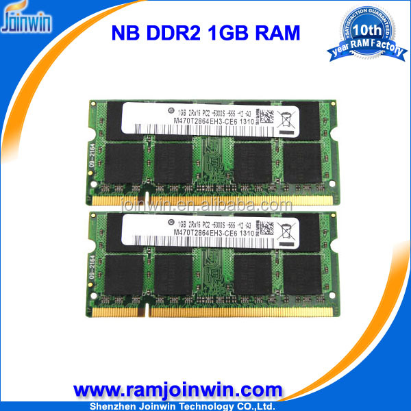 Sellers only ETT chips ram memory 1gb 200 pin sodimm ddr2 pc2-5300