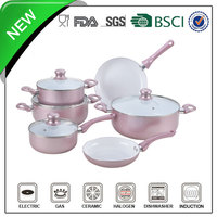 10pcs aluminum multi colored enamel cookware
