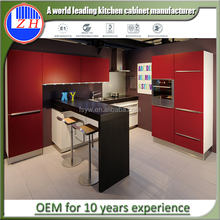 Competitive price high gloss color combinations lacquer kitchen cabinet design