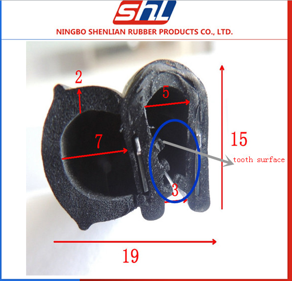 Door seal strip Rubber Seal Bulb Seal