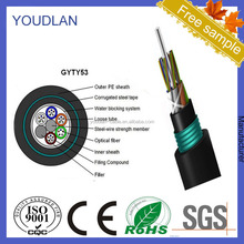 48 Core Armoured multi mode Fiber Cable Optice GYTY53 12 core