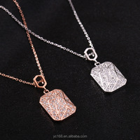 online shop china 925 sterling silver vintage necklaces, new fashion rose gold necklace