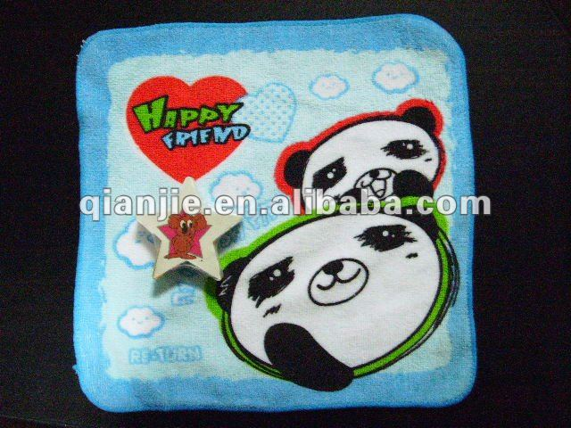 towel manufacturers/cute panda pigment printing terry towels