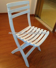 Outdoor furniture white folding plastic beach chair